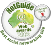 netguide web awards 2006 - best social networking site